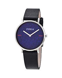 Women's Giada Leather Blue Glitter Dial