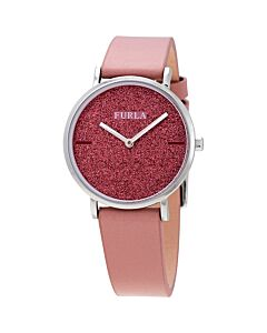 Women's Giada Leather Pink Glitter Dial