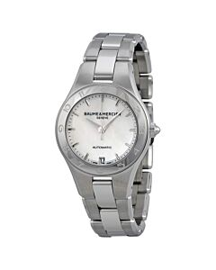 Womens-Linea-Stainless-Steel-Mother-of-Pearl-Dial