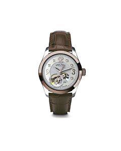Womens-LL9-Alligator-Leather-Silver--White-Mother-of-Pearl-Dial