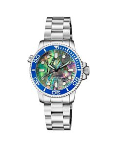 Womens-Llizzy-Blue-Diver-Stainless-Steel-Multi-colored-Abalone-Shell-Dial