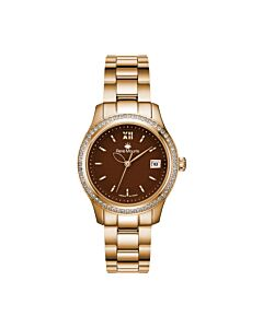 Womens-Lola-Stainless-Steel-Brown-Dial