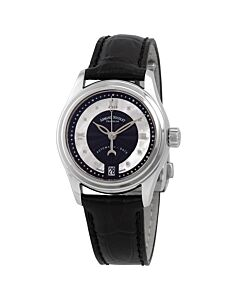 Womens-M03-2-Alligator-Leather-Black-Guilloché-White-Mother-of-Pearl-Dial