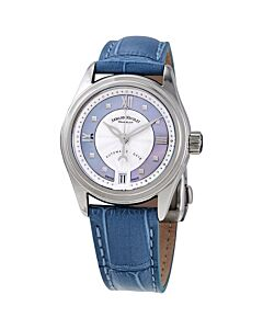 Womens-M03-2-Alligator-Leather-Violet-Mother-of-Pearl-Dial