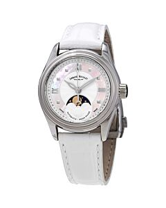 Womens-M03-2-Alligator-Leather-White-Mother-of-Pearl-Dial