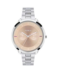 Women's Metropolis Stainless Steel Rose Dial