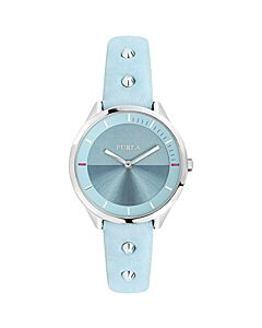 Women's Metropolis Studded Leather White Silver Dial