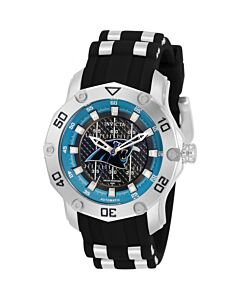 Women's NFL Stainless Steel and Silicone Black Dial Watch