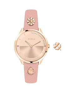 Women's Pin Leather Rose Gold-tone Dial