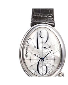 Womens-Reine-De-Naples-Leather-White-Mother-of-Pearl-Dial