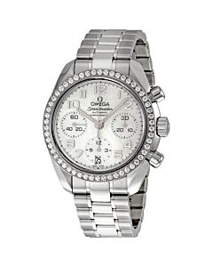 Women's Speedmaster Chronograph Stainless Steel Mother of Pearl Dial