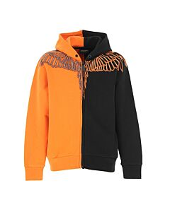 Marcelo Burlon Boys Colorblock Wings Print Hooide, Brand Size 8 Youth/Juniors
