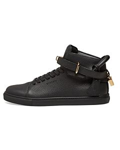 Buscemi Men's Black High-top 100 MM Leather Sneakers, Brand Size 41 (US Size 8)