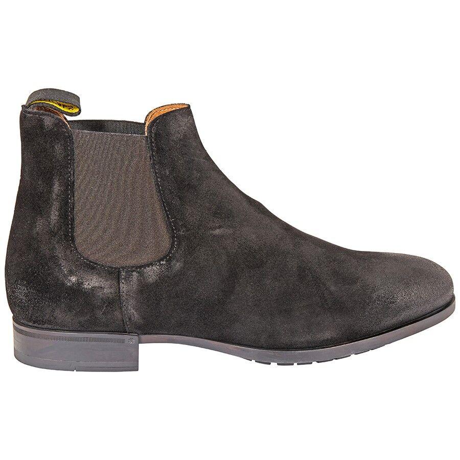Men's Booties Black Chelsea Sue Elas Full Rub, Brand Size 41.5 ( US Size 8.5 )
