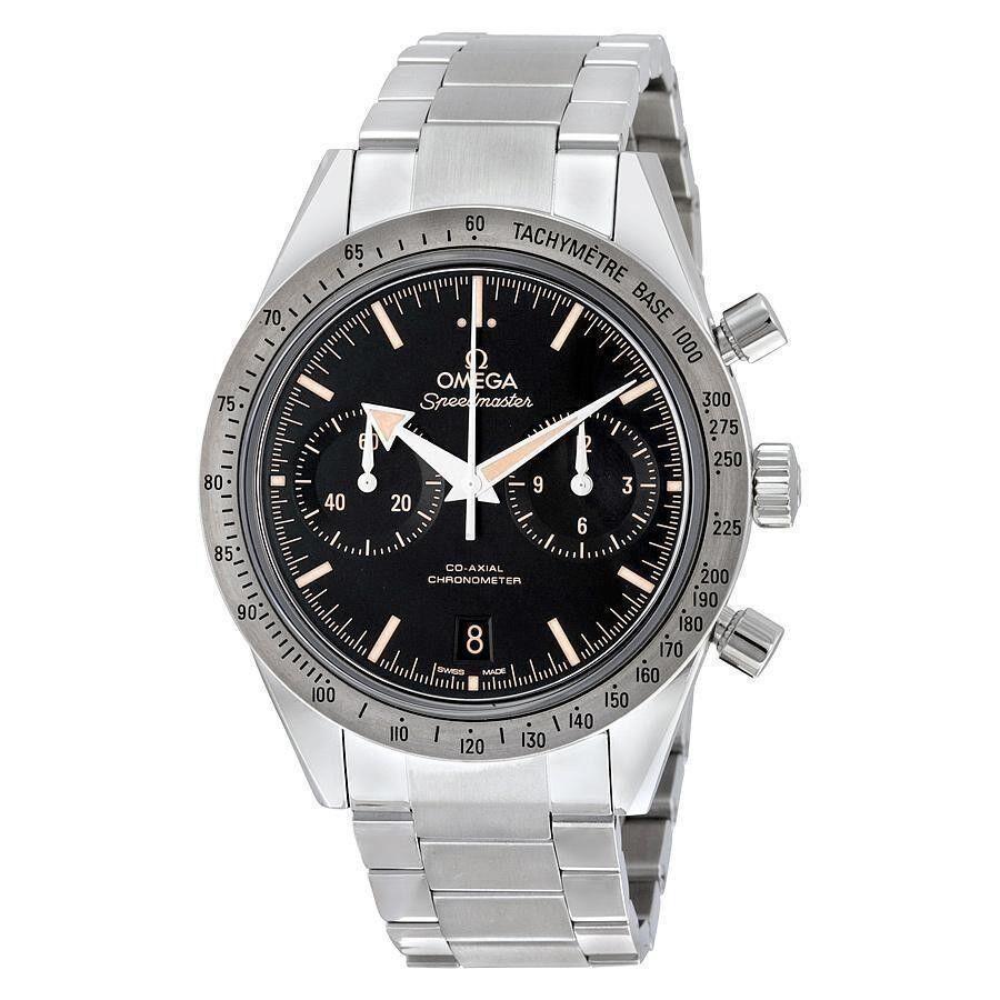 Men's Speedmaster Chronograph Stainless Steel Black Dial